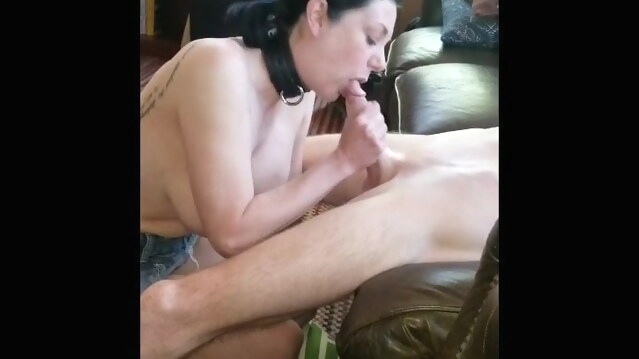 amateur Submissive slut hotwife fucks new friend while husband films cuckold