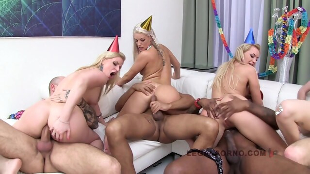 big cock Lucie Wilde 5 On 5 Creampie Orgy blonde